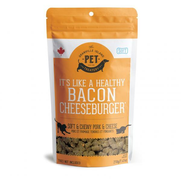 Granville Island Pet Treatery Pork Liver & Cheese Soft & Chewy Dog Treats, 210-gram