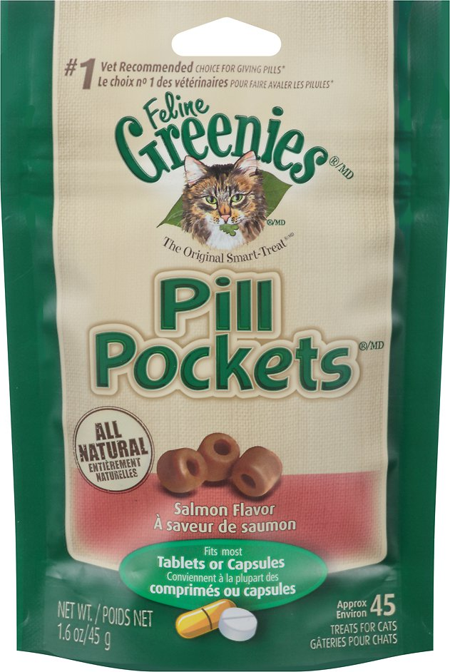 Feline Greenies Pill Pockets Salmon Flavor Cat Treats Image