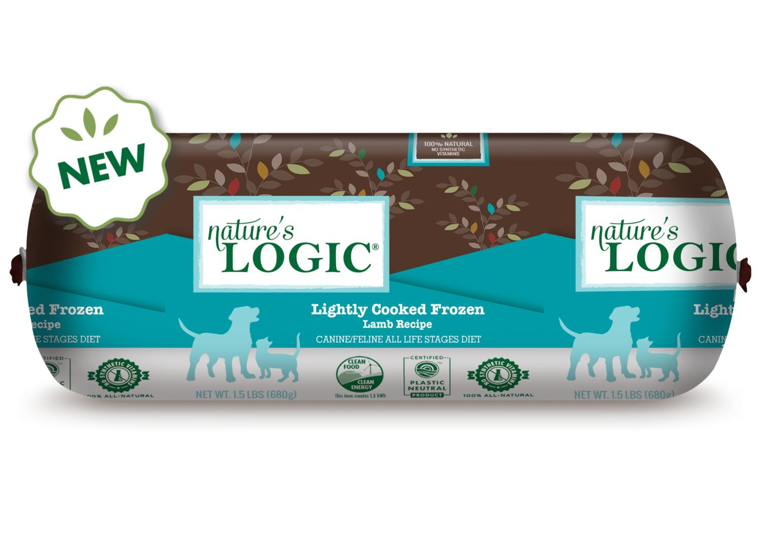 Nature's Logic Lightly Cooked Lamb Frozen Dog & Cat Food, 1.5-lb