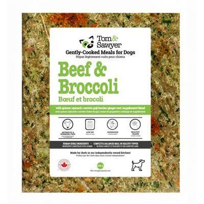 Tom&Sawyer Beef & Broccoli Frozen Dog Food, 454-gram