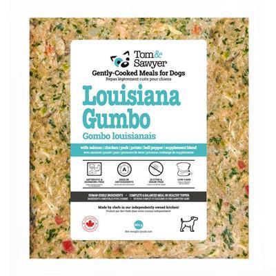 Tom&Sawyer Louisiana Gumbo Frozen Dog Food, 454-gram