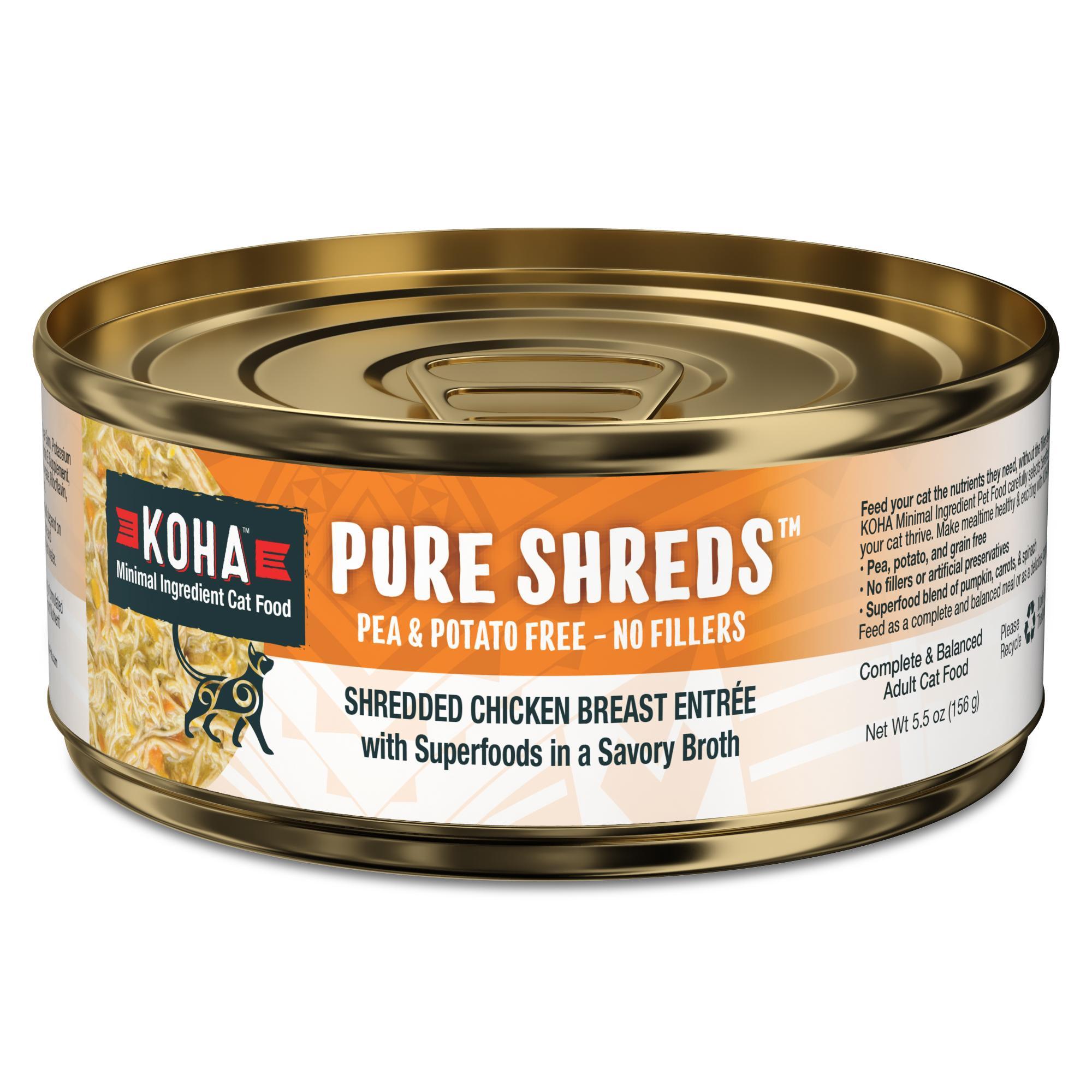 Koha Pure Shreds Shredded Chicken Breast Entrée Wet Cat Food, 5.5-oz