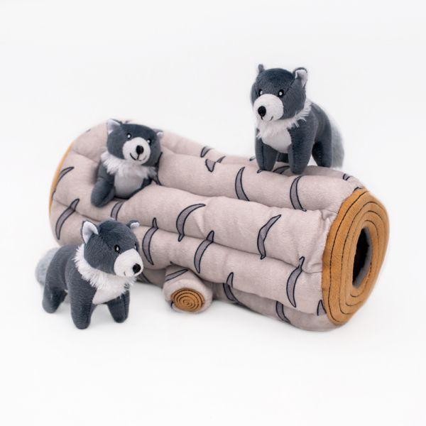 ZippyPaws Zippy Burrow Artic Wolf Dog Toy