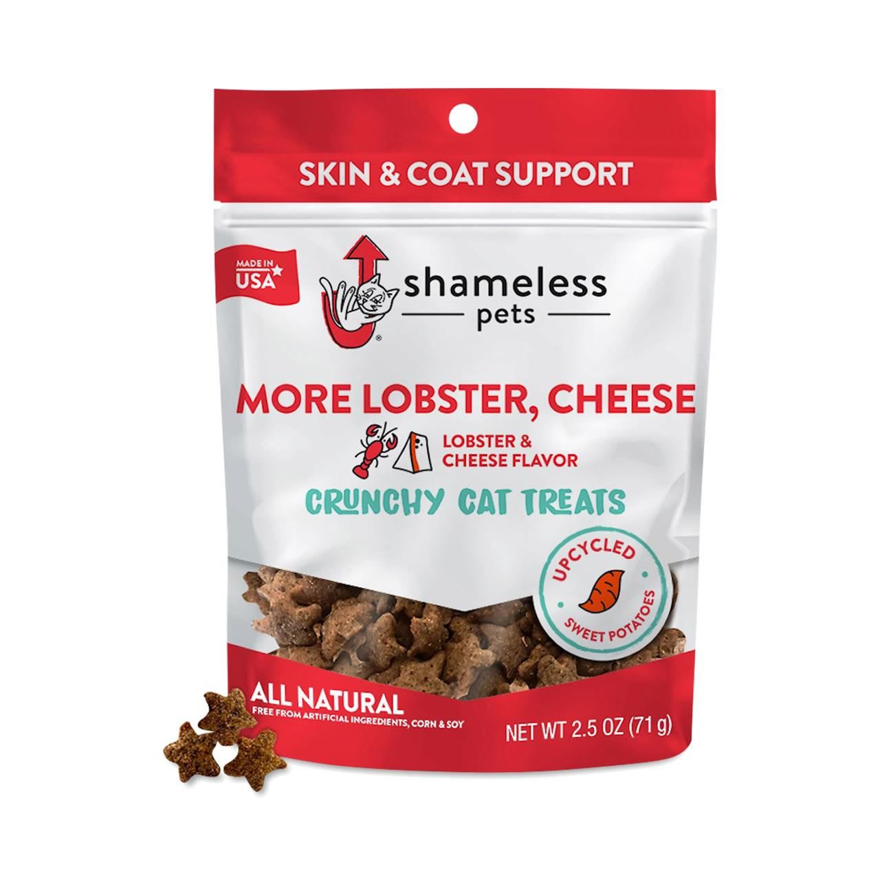 Shameless Pets More Lobster, Cheese Crunchy Cat Treats, 2.5-oz