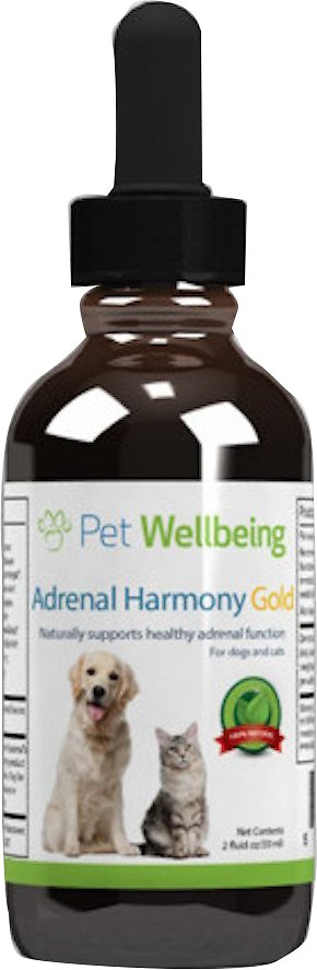 Pet Wellbeing Adrenal Harmony Gold Cushing's Disease Dog & Cat Supplement, 2-oz bottle