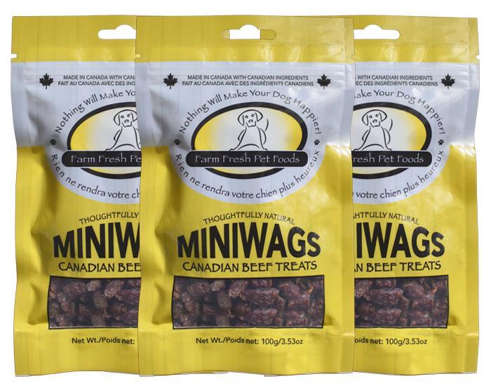 Farm Fresh Miniwags Canadian Beef Dog & Cat Treats, 100-gram