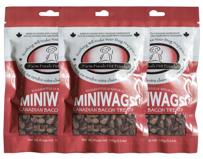 Farm Fresh Miniwags Canadian Bacon Dog & Cat Treats, 100-gram