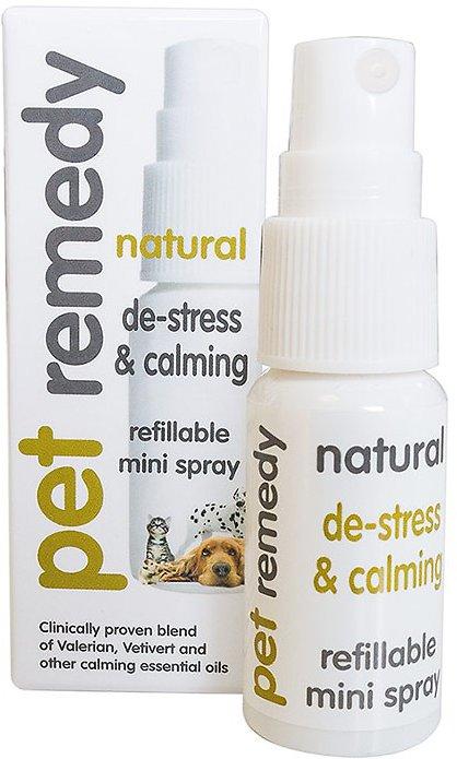 Pet Remedy Natural De-Stress & Calming Refillable Mini Spray for Pets, 15-ml bottle