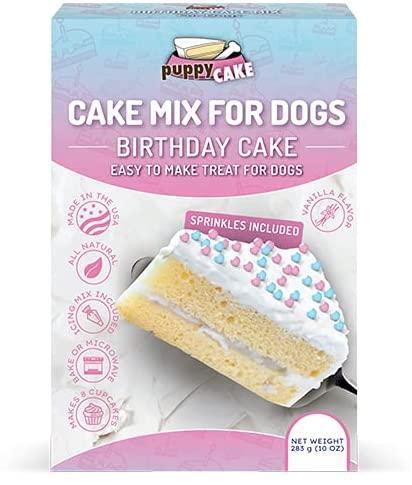 Puppy Cake Birthday Cake Mix with Sprinkles Dog Treats Image