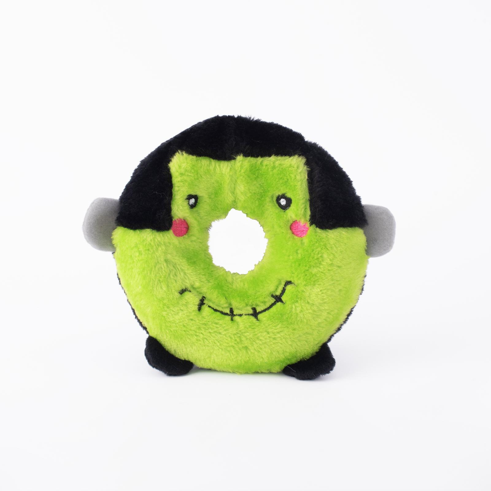 ZippyPaws Halloween Donutz Buddies Frankenstein's Monster Dog Toy