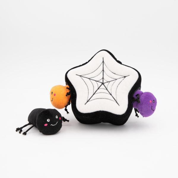 ZippyPaws Halloween Burrow Spiderweb Dog Toy