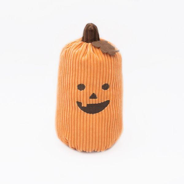 ZippyPaws Halloween Pumpkin Dog Toy, Orange, Jumbo