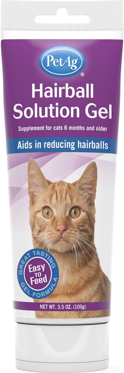 PetAg Hairball Solution Chicken Flavored Gel Cat Supplement, 3.5-oz bottle (Weights: 3.5 ounces) Image