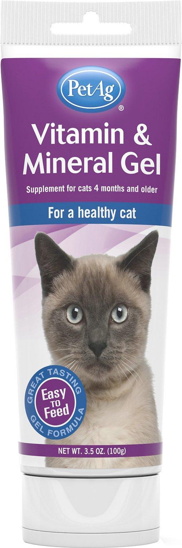 PetAg Vitamin & Mineral Gel Cat Supplement, 3.5-oz bottle Image