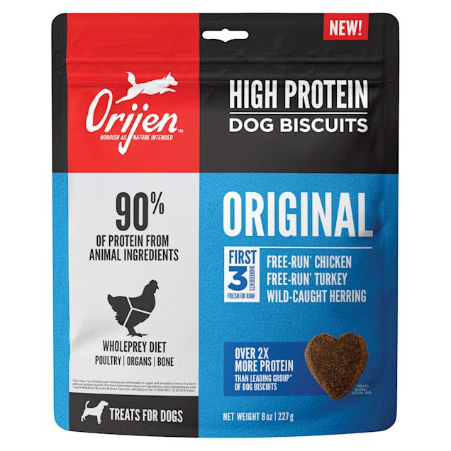 Orijen High Protein Dog Biscuit Original Dog Treats, 8-oz