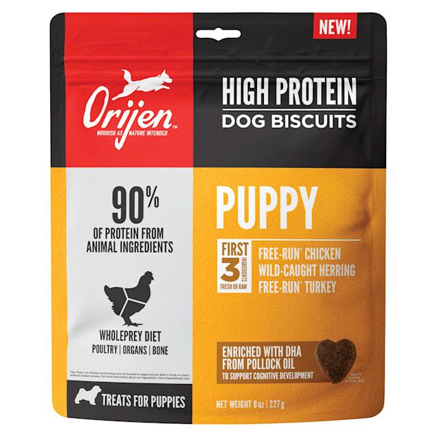 Orijen High Protein Dog Biscuit Puppy Dog Treats, 8-oz