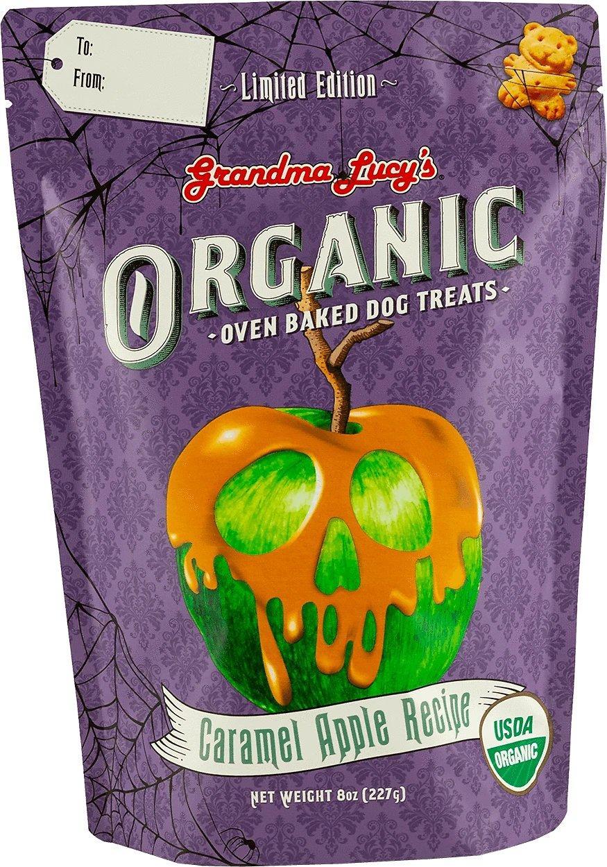 Grandma Lucy's Organic Caramel Apple Oven Baked Dog Treats, 8-oz