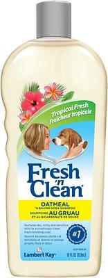 PetAg Fresh 'N Clean Oatmeal 'N Baking Soda Dog Shampoo, Tropical Fresh Scent, 18-oz bottle