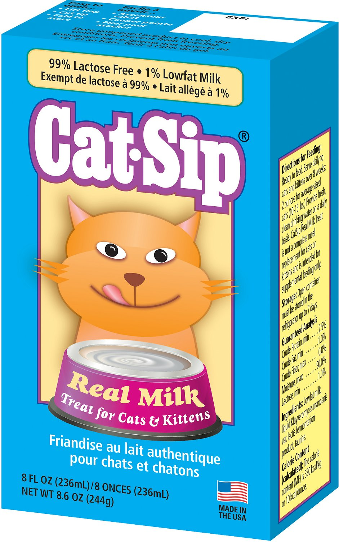 PetAg CatSip Real Milk Liquid Cat & Kittens Treat, 8-oz carton