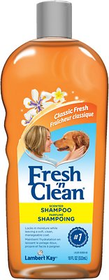 PetAg Fresh 'N Clean Scented Dog Shampoo, Classic Fresh Scent, 18-oz bottle