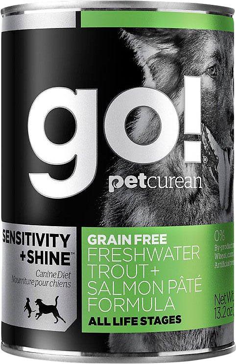 Go! Sensitivity + Shine Grain-Free Freshwater Trout & Salmon Pate Formula Wet Dog Food Image