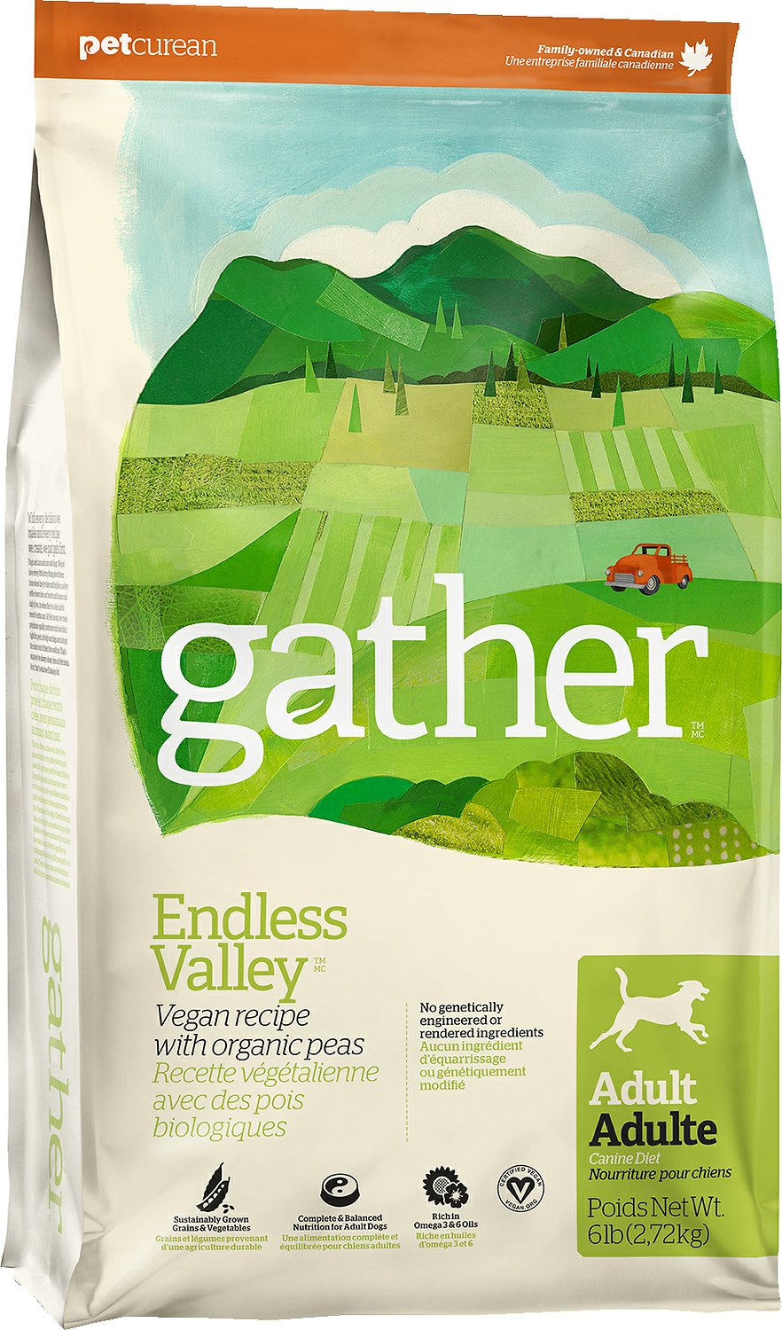 Gather Endless Valley Vegan Adult Dry Dog Food Image