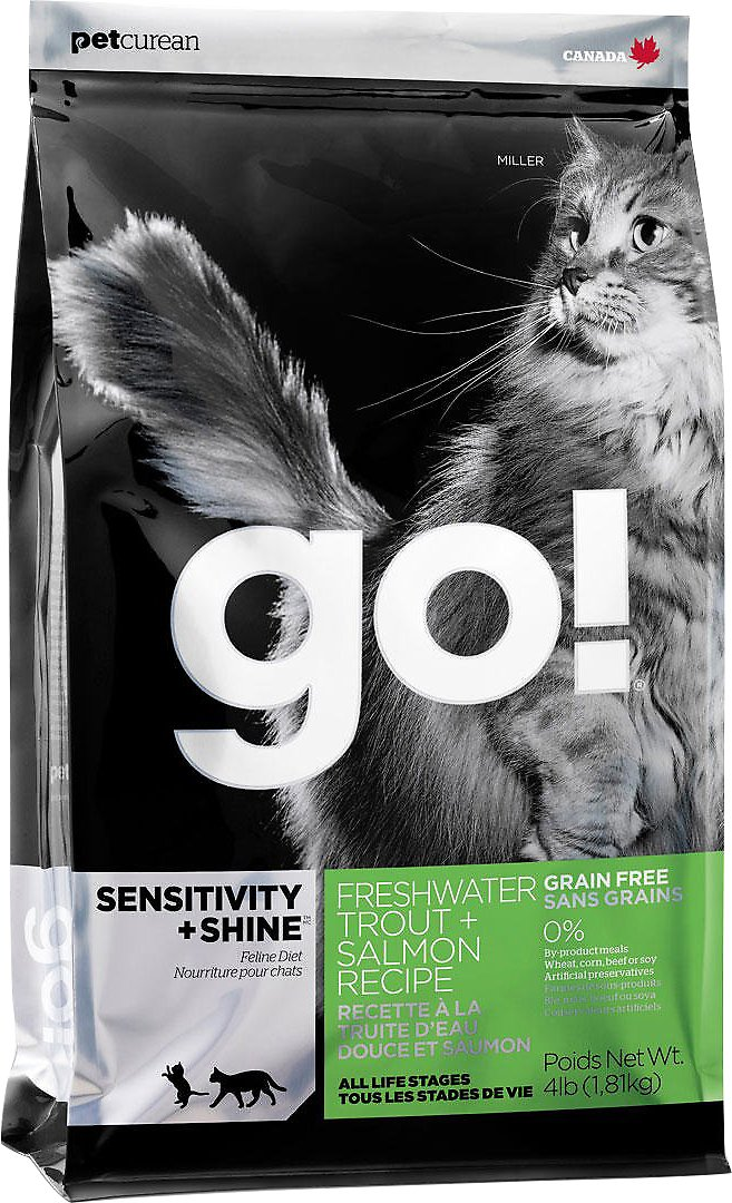 Go! Sensitivity + Shine Grain-Free Freshwater Trout & Salmon Dry Cat Food Image