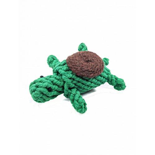 Wild Meadow Farms Plushland Wild Cotton Turtle Dog Toy
