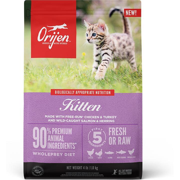 Orijen Kitten Grain Free Dry Food, 4-lb