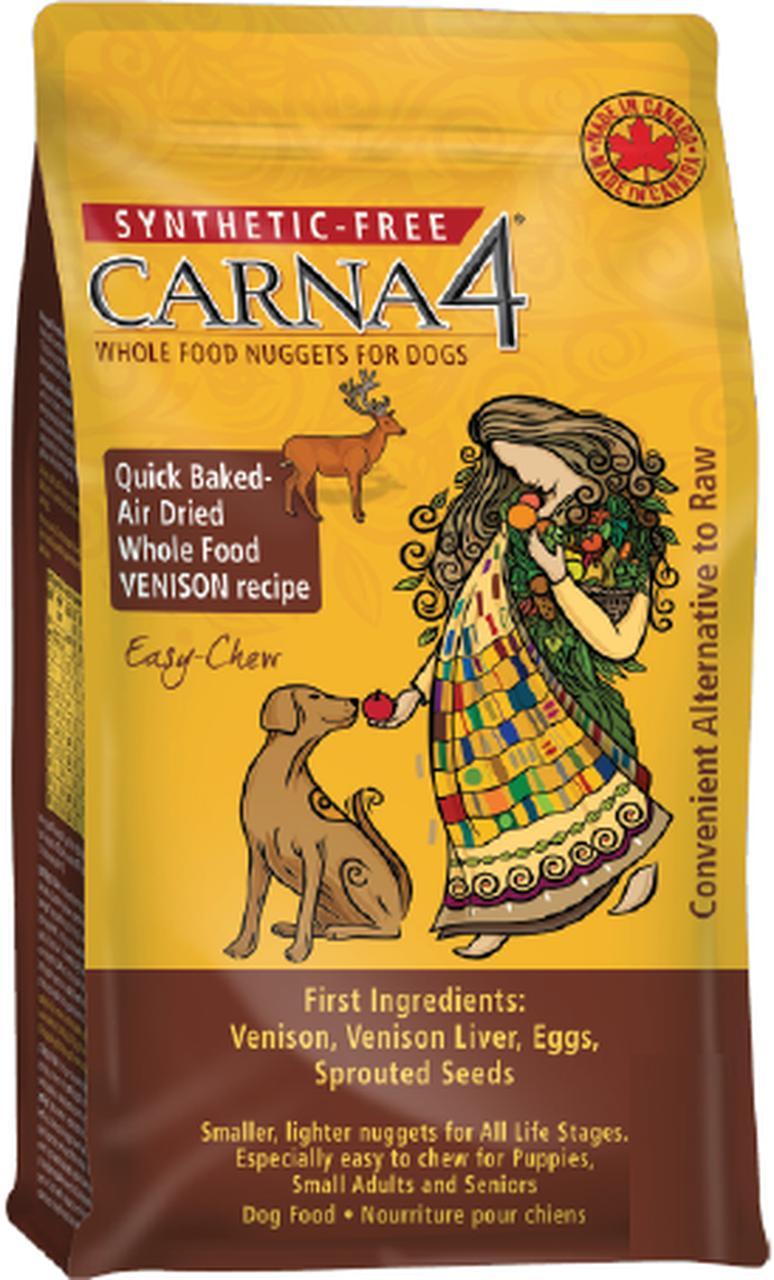 Carna4 Venison Grain-Free Air-Dried Dog Food, 2.2-lb