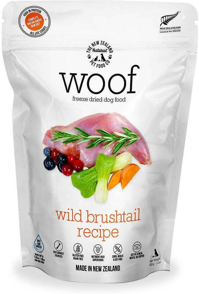 The New Zealand Natural Woof Wild Brushtail Freeze-Dried Dog Food, 50-gram