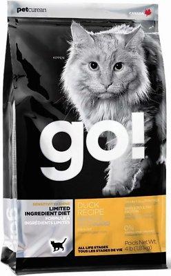 Go! Sensitivity + Shine LID Duck Grain-Free Dry Cat Food, 16-lb bag