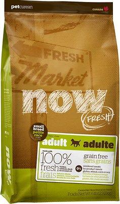 Petcurean Dog Now Fresh Grain-Free Small Breed Adult Dry Dog Food, 6-lb bag