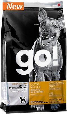 Go! Sensitivity + Shine LID Duck Grain-Free Dry Dog Food, 25-lb bag