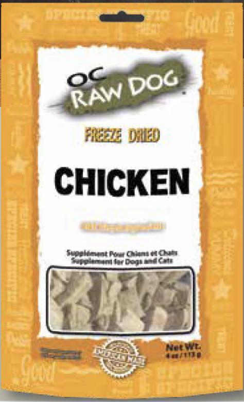 OC Raw Chicken Nuggets Freeze-Dried Dog Treats, 4-oz
