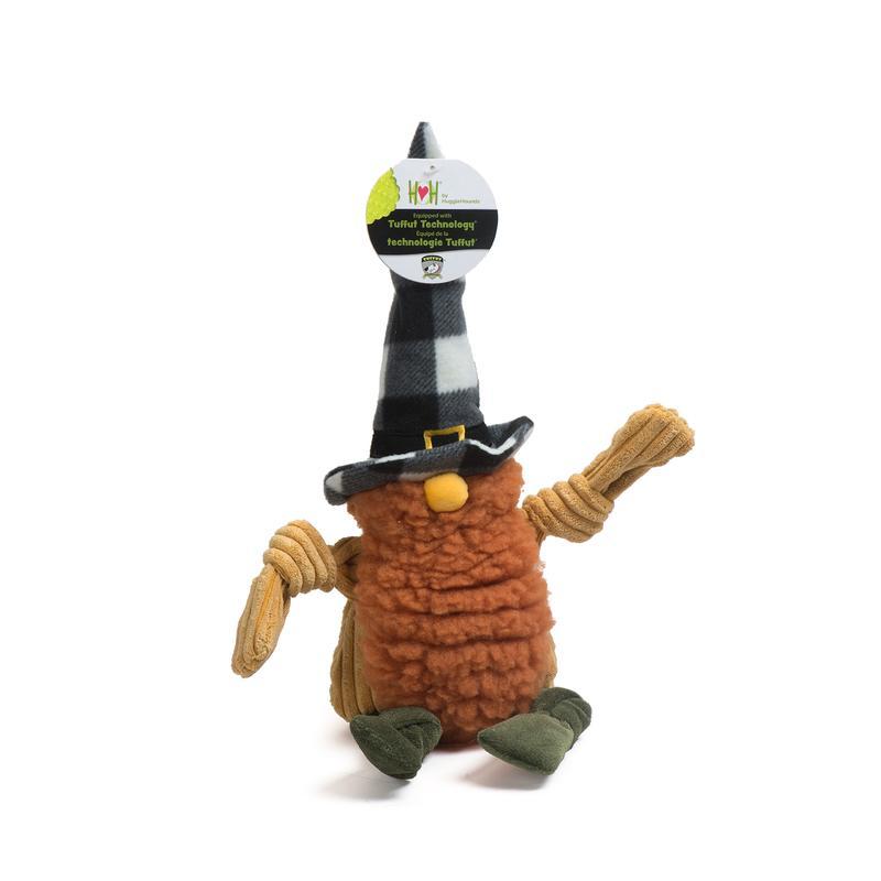 Hugglehounds HuggleFleece Harvest Gnome Dog Toy, Wee