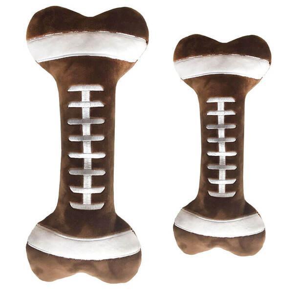 Lulubelles Power Plush Football Bone Dog Toy, Large