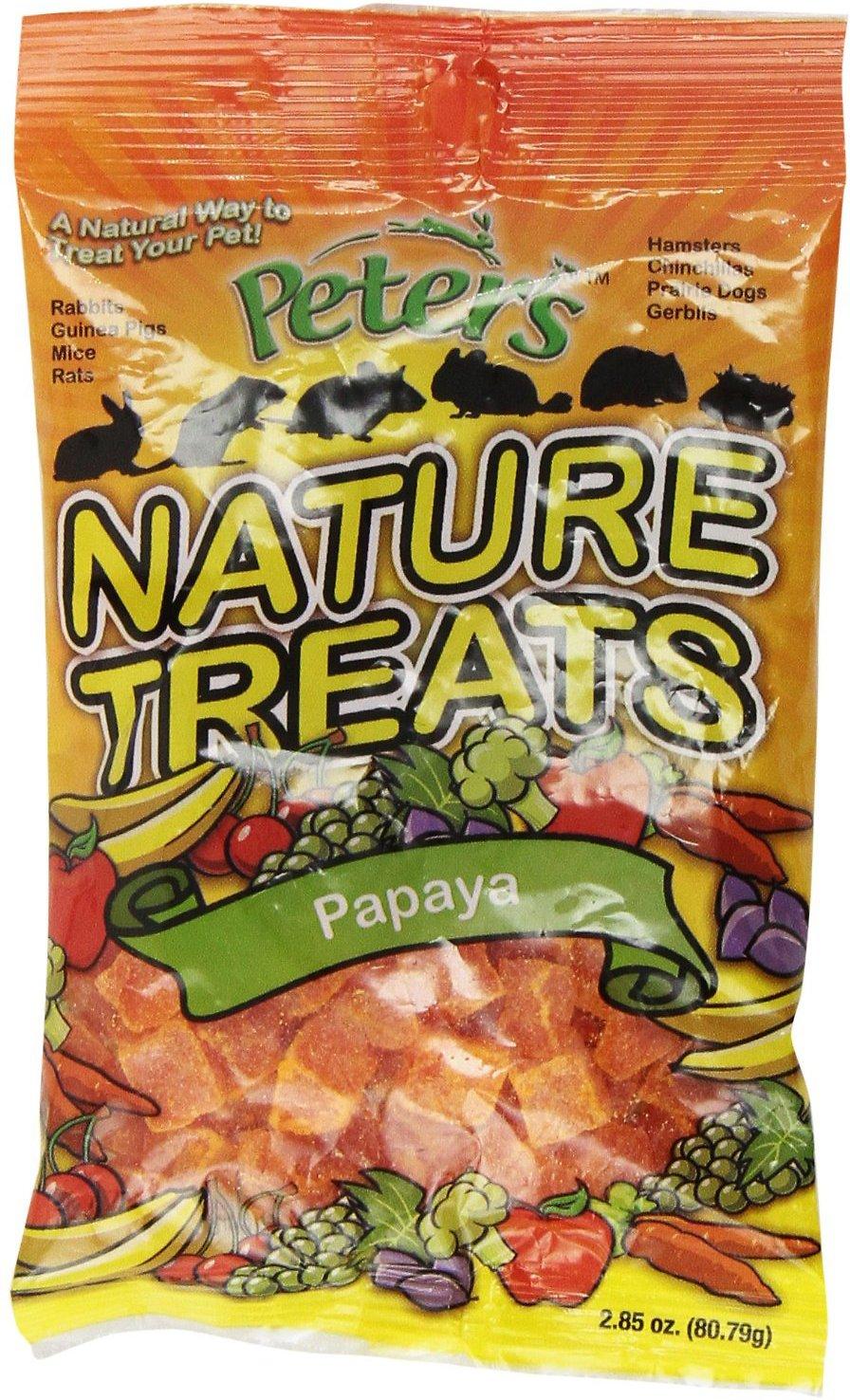 Peter's Nature Papaya Pieces Small Animal Treats, 2.85-oz bag