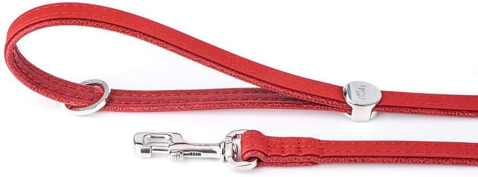 MyFamily Bilbao Leatherette Dog Leash, Red, 4-ft