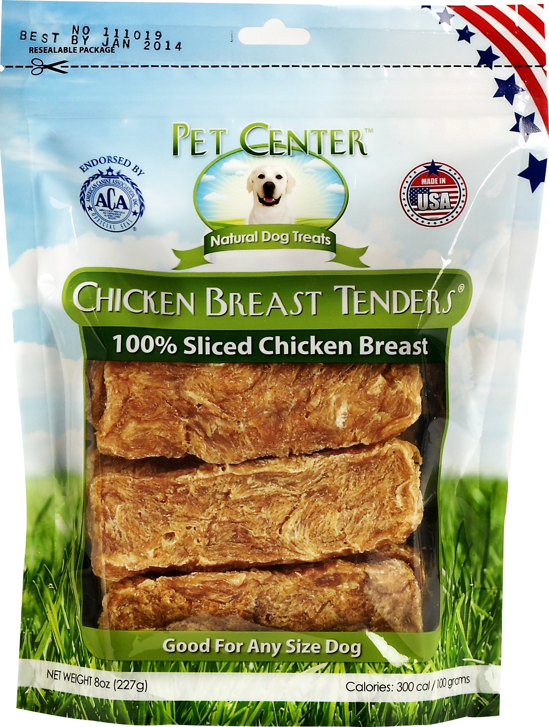 Pet Center Sliced Chicken Breast Tenders Dog Treats, 8-oz bag Image