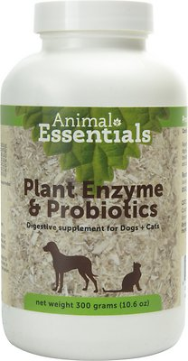 Animal Essentials Plant Enzyme & Probiotics Dog & Cat Supplement, 10.6-oz bottle