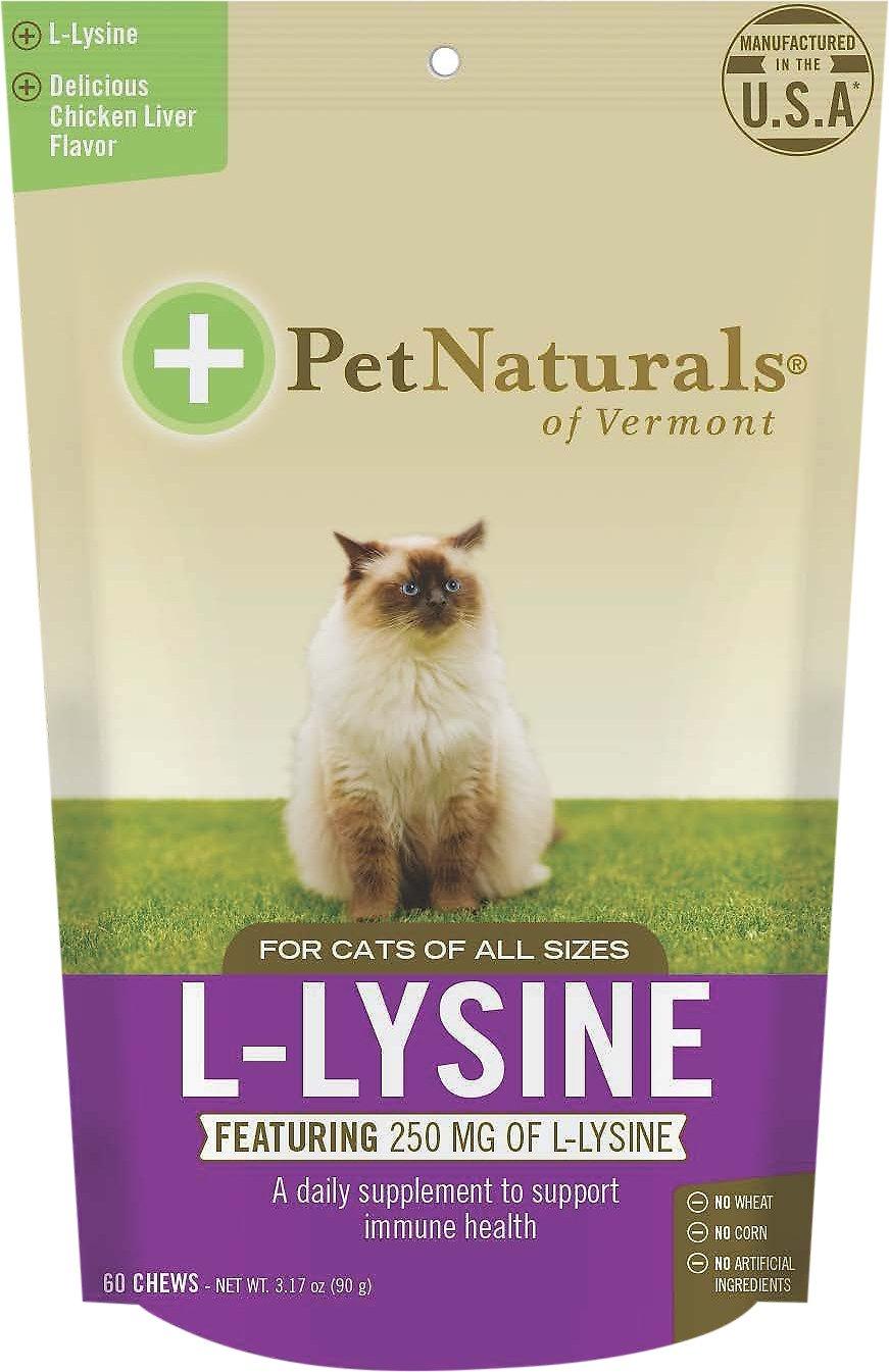 Pet Naturals of Vermont L-Lysine Cat Chews, 3.74-oz, 60 count Image