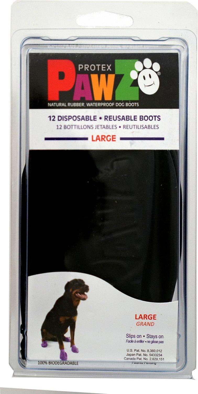 Pawz Waterproof Dog Boots, Black Image