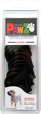 Pawz Waterproof Dog Boots, Black, XX-Small