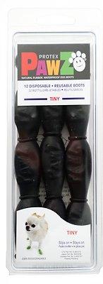 Pawz Waterproof Dog Boots, Black, Tiny