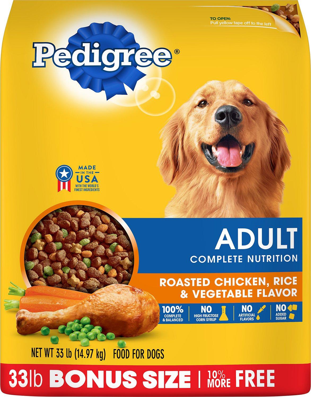 Pedigree Adult Complete Nutrition Roasted Chicken, Rice & Vegetable Flavor Dry Dog Food Image