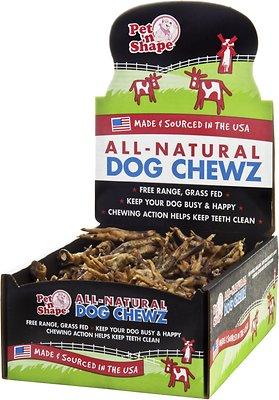 Pet 'n Shape USA All-Natural Chewz Chicken Feet Dog Treats, 100 count box