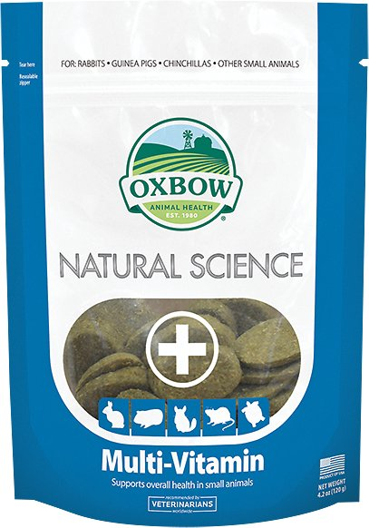 Oxbow Natural Science Multi-Vitamin Small Animal Supplement, 60 count