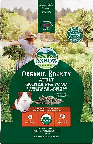 Oxbow Organic Adult Guinea Pig Food, 3-lb bag Image