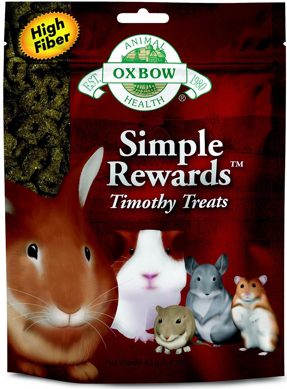 Oxbow Simple Rewards Timothy Small Animal Treats, 1.4-oz bag Image